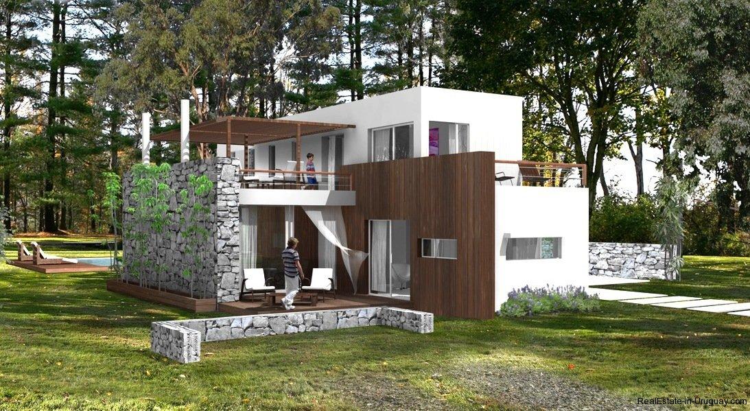 Modern 2 story house carrasco realestate in uruguay