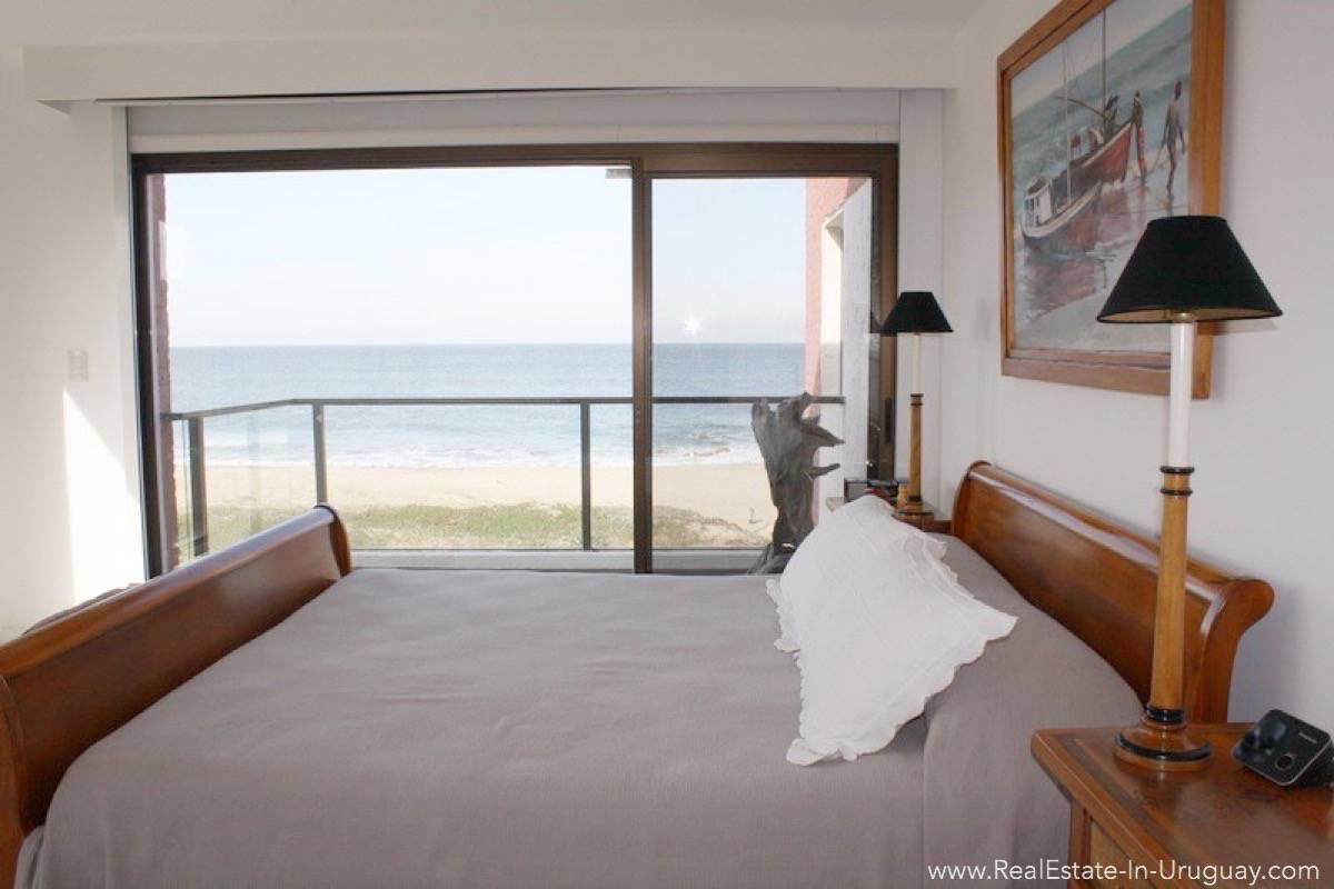 5825 Ocean Front Apartment Master Bedroom View Real Estate In Uruguay